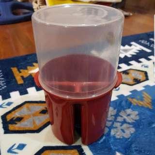 New Dark Red Plastic Utensils Holder