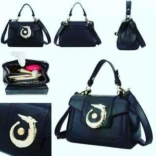Tas fashion import handbag from batam 1448 black