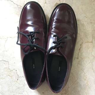 Sepatu Oxford Shoes Maroon Forever 21