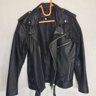 jaket kulit ( leather jacket )