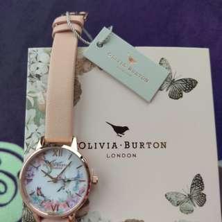 Olivia Burton Ladies' Painterly Prints Floral Birds Print Watch