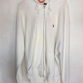 sweather polo full white