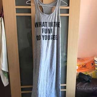 全新 灰色連身長裙
