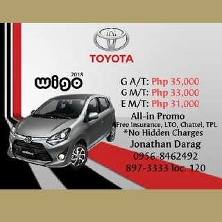 Toyota Wigo Low Downpayment