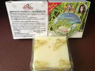 Kbrothers Milky Jasmine Rice Soap Super Whitening