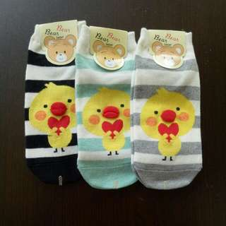 Chick Sock 🐣 (3 for $10.00)