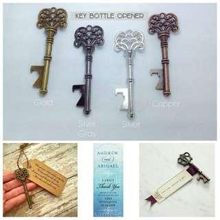 Key bottle opener.Wedding souvenir.Useful Give away