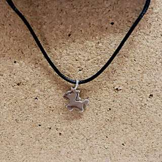 (BN) 925 silver pony pendant necklace