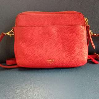 For sale preloved fossil sydney crossbody fringe pomegranate
