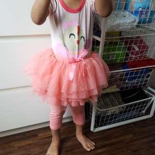 Girl tutu skirt pants