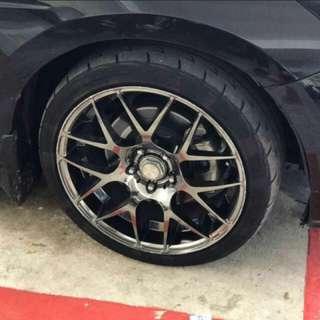 """18""""inch rim pcd 5x114.3 tyre 225/40r18"""