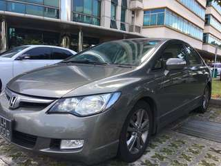 $47 per day Honda Civic 1.8A For Uber/Grab