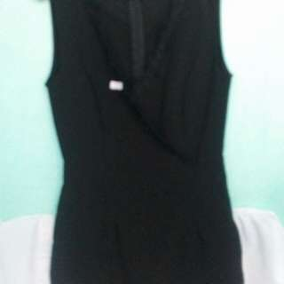 Black jumpshort with Lace detail