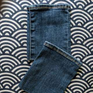 Scrap denim from levis jeans