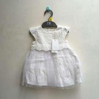 New mothercare white princess dress