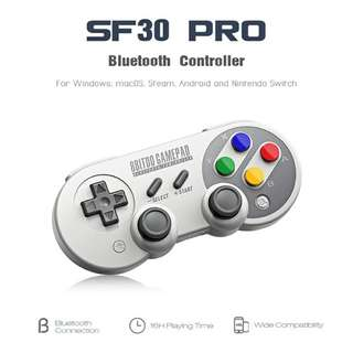 Wireless Gamepad 8Bitdo SF30 Pro - Bluetooth Controller with Joystick, Shoulder Buttons, 480mAh Battery (CVAIA-G869)