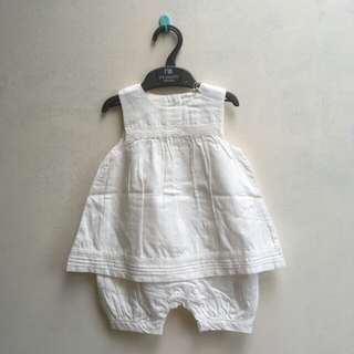 New mothercare white romper and headband