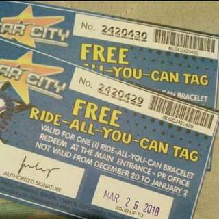 DISCOUNTED STAR CITY TICKET