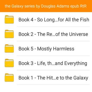 The Hitchhiker's Guide through the Galaxy series