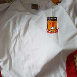 LEFT 1 Bedok South Secondary PE Shirts 's' size