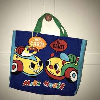 日本 童裝 miki house 書袋 學琴袋 made in japan