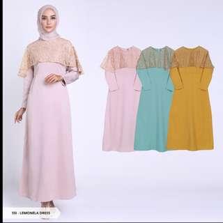 Dress Lemonela Plain Flare Muslim