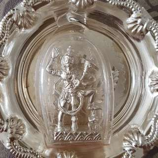 Hanuman in pure silver, from Ramar Temple.