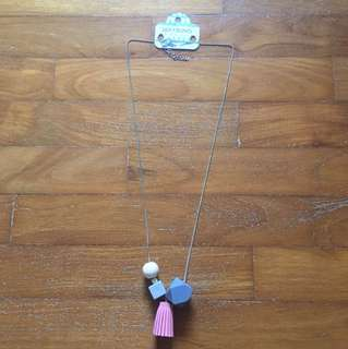 Lily and bling tassel necklace