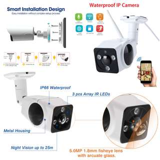 IP66 Waterproof Fisheye Camera 360 Lens / Monitoring garden, Carpark, outdoor area / Call 97594036