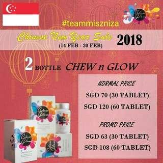 Chew N Glow CNY Sales