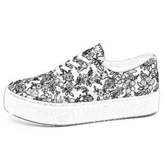 Floral Madness Rubber Platform Casual Shoes