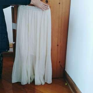 女神白色下身裙