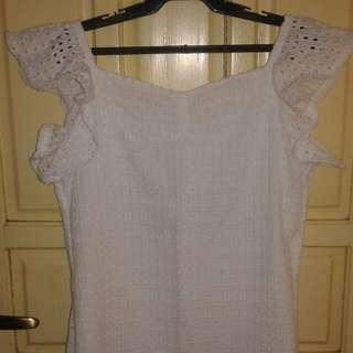 Islet White off shoulder blouse(2way)