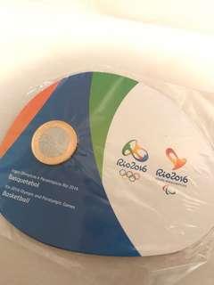 2016里約奧運紀念幣(籃球)