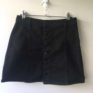 Black Button Up Skirt, size 8