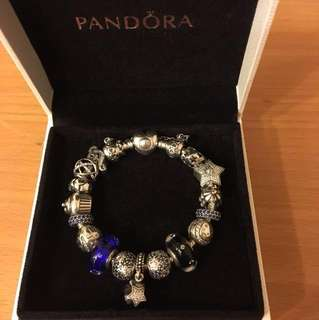 Authentic Limited Edition Pandora Bracelet with Limited Edition Charms