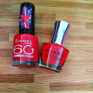Take 2 rimmel & pixel red nail polish