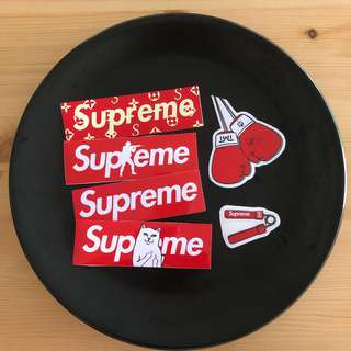 🧡Supreme PVC stickers set