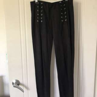 Criss cross pants