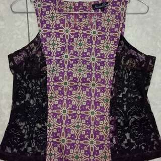 Batik see through top