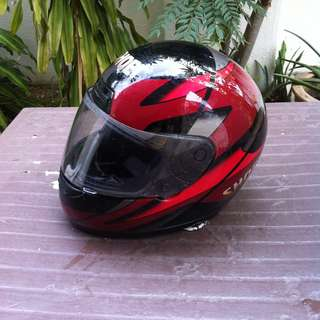Shoei full face helmet Size Small.  In good condition.