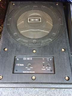 "8"" active subwoofer (under seat)"