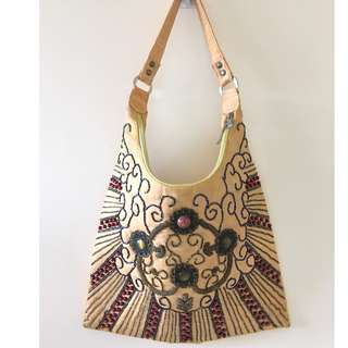 Yellow Bag with bead details