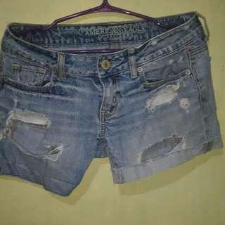 American eagle maong shorts