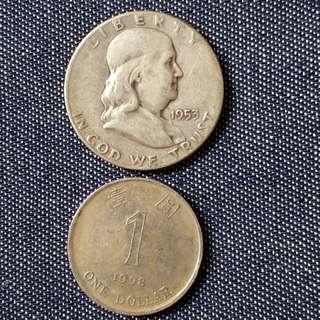 1953年美國币