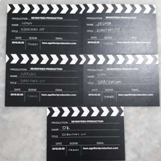 SEVENTEEN DIRECTOR'S CUT MEMBER BUSINESS CARD