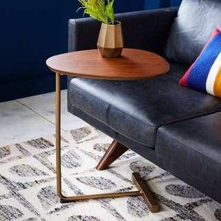 簡約桌邊小茶几、鐵腳實木、沙發邊几、閱讀桌、咖啡桌