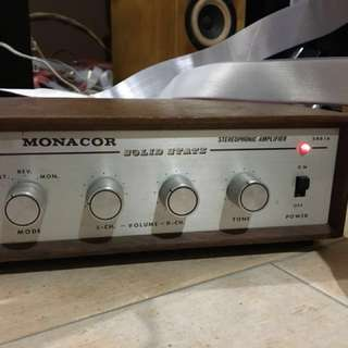 Monacor vintage Made in Japan solid state amplifier