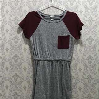 Forever 21 maroon gray sporty dress