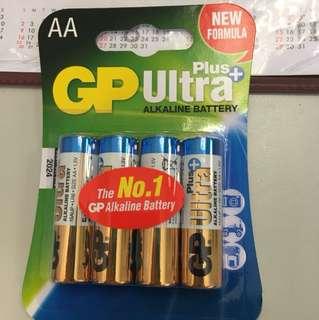 GP 超霸 Ultra Plus AA 電芯 4粒